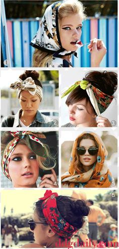 headscarves perfect for bad/lazy hair day