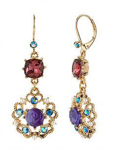Turn heads with these eye-catching earrings by Betsey Johnson. #LTFallStyle #lordandtaylor