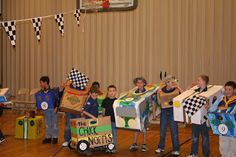 Cubannapolis or Cub Scout Annapolis.  The Cubannapolis is an amazingly fun Cub Scout activity.  I hope you will give it a try.  Our boys enjoyed it MUCH more than the pinewood derby.  It was a lot more low key and fun and funny.  We got lots of great pictures!    The idea of the Cubannapolis is to set up a race course - a round area the boys can run around.  They line up at the starting line.  Mark, Set, Go!  They race around about 4 times, and stop them after each lap to do one thing.
