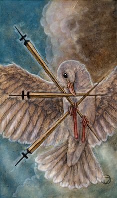 3 of Swords, Mary-el Tarot