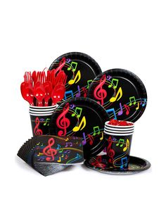 Dancing Music Standard Kit Serves 8 - Music Party Supplies