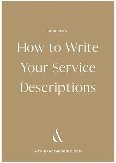 For service-based businesses, the way we present our services matters. Today, we're excited to share how to write service descriptions for your business! Personal Branding, Branding Your Business, Small Business Marketing, Business Design, Business Tips, Creative Business, Online Business, Marketing Ideas, Content Marketing