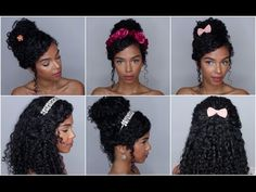5 Accessorized Curly HairStyles | SunKissAlba - YouTube, last one but with simple red headband or flower