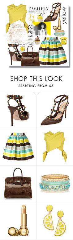 """""""Untitled #285"""" by kercey ❤ liked on Polyvore featuring Valentino, MSGM, Hermès, Paul Mitchell, Christian Dior, Celebrate Shop and Versace"""