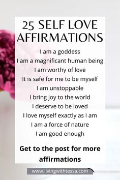 25 affirmations on self love