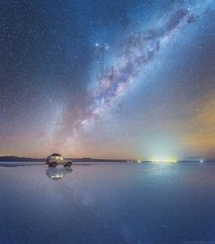 In May 2016, nature prepped the stage for a sight like no other. The world's largest salt flats, the Salar de Uyuni in Bolivia, were flooded with water, turning the flats into the largest mirror on earth. Good news for us is that Russian photographer Daniel Kordan was there to capture the moment.