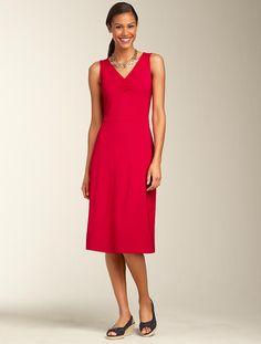 Talbots - Knit V-Neck Dress   Dresses   Misses