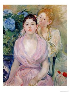 The Hortensia, or the Two Sisters  1894. Berthe Morisot