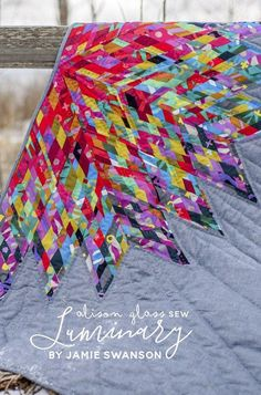 An Alison Glass published pattern by Jamie Swanson. Luminary is a take on a traditional lone star quilt but with a modern improv twist.