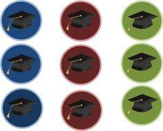Graduation Circles and Banner – Tip Junkie Printables Graduation Cupcake Toppers, Graduation Cupcakes, Graduation Decorations, Graduation Celebration, Graduation Gifts, Graduation Banner, College Graduation, Graduation Ideas, Bottle Cap Art