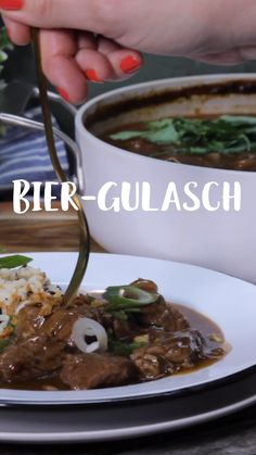 Beer Goulash-Bier-Gulasch With BEER your beef will be much better. Easy Meal Prep, Healthy Meal Prep, Healthy Dinner Recipes, Easy Meals, Healthy Eating, Drink Recipes, Healthy Nutrition, Goulash, Steak Recipes