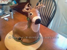 Coolest Deer Cake for 8-Year-Old (It Made Him Cry!)... This website is the Pinterest of birthday cake ideas