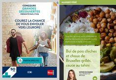 Bol de pois chiches et choux de Bruxelles grillés - La Presse+ Sauce Sriracha, Tahini, Vegetarian Recipes, Meal Recipes, Mets, Weeknight Meals, Grilling, Lunch, Chickpeas