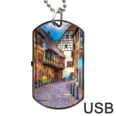 Alsace France Dog Tag USB Flash Drive $26.99