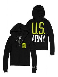 PINK Army Perfect Full Zip Hoodie #VictoriasSecret http://www.victoriassecret.com/pink/army/army-perfect-full-zip-hoodie-pink?ProductID=109006=OLS=true?cm_mmc=pinterest-_-product-_-x-_-x