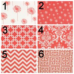 Contemporary Curtains- Pair of Drapery Panels- Premier Prints Coral Curtains- 50x96 inch Drapes- You Choose Fabric