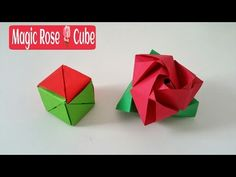 Magic Rose Cube - DIY Modular Origami Tutorial by Paper Folds ❤️ - YouTube