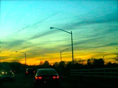 I just love it when the sky turns to these colors. :)