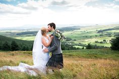 Dumfries and Galloway Wedding Venue | Beautiful hilltop wedding setting rolling hills of Dumfriesshire.