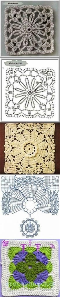 These patterns you can use where you want. There are schemas at down side you can check them and crochet and combinate with your design.
