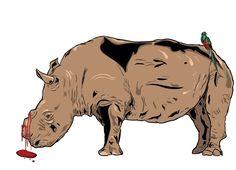 Bleeding Rhino by SolomonKarmel-Shann