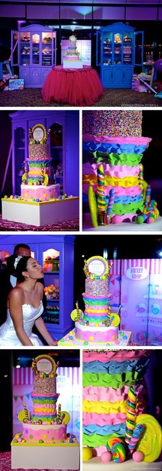 quinceanera themes | Jessica's Candyland Quince Cake | Elegant Temptations