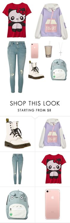 """""""Boba and Hello Kitty~ ^_^"""" by rorschachsjournal ❤ liked on Polyvore featuring Dr. Martens, River Island, Hello Kitty, Studio Ghibli and Roberto Coin"""