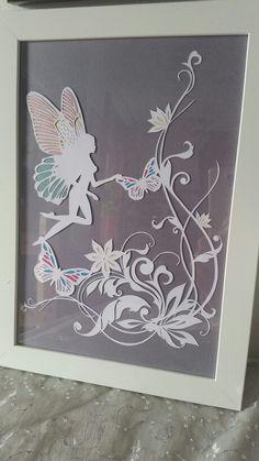 Azura the paper cut fairy with shimmer inlays *sold* fb.com/daisyjaynehandmade