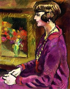 Woman with Necklace - Louis Valtat - circa 1925