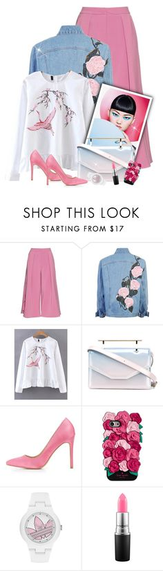 """""""~Cotton Candy~"""" by amethyst0818 ❤ liked on Polyvore featuring Roksanda, M2Malletier, Charlotte Russe, Kate Spade, adidas and MAC Cosmetics"""