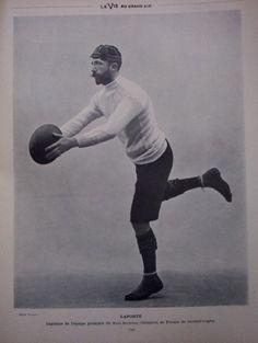 Ragbimängija Pascal Laporte (poseerimas Prantsuse ajakirjale La Vie Au Grand Air, 1900