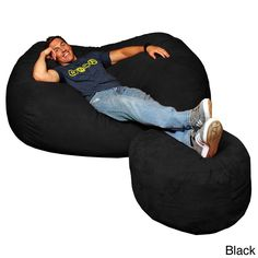 The Theater Sack Six foot memory foam bean bag is the perfect size for two large adults and can be used as a couch or a lounger to stretch out on. The 6-ft lounger is a top choice for home theaters and family rooms.