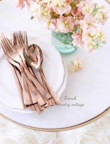 Hochzeitsinspiration Rosé Gold Metallic - Weibi.at