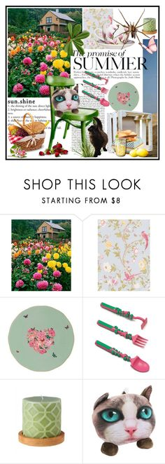 """""""Summer picnic"""" by lizart ❤ liked on Polyvore featuring interior, interiors, interior design, home, home decor, interior decorating, Royal Albert, garden, picnic and summerstyle"""