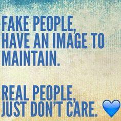 Fake people v Real people