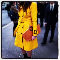 Street Style spotted at Burberry Prorsum F/W 2012.