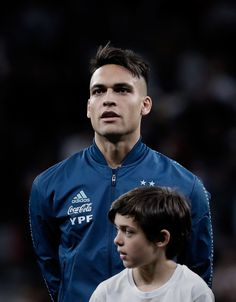 Lautaro Martinez of Argentina listens to his national anthem prior to. Football Shirts, Football Players, Argentina Football, National Anthem, Soccer, Sports, Mens Tops, Wall, Football Pictures