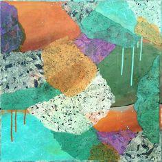 "TIDE POOL Acrylic & Cut Paper on Canvas  24"" x 24"""