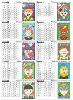 Algebra 2 - FACEing Math - These are super cute, but WAYYY too easy for my students.  Maybe adapt?