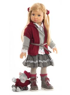 Elise. A gorgeous new multi jointed playdoll from Kidz 'n' Cats for 2013. Available from end of Feb from Petalina.co.uk