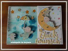 """Karte hergestellt mit dem Stempelset """"Moon Baby"""" von Stampin´ UP! - Babykarte"""