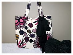 Large Exotic Tote Bag / Beach Bag by MayFlowerDesign on Etsy, $40.00