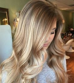 Billedresultat for blonde balayage Love Hair, Gorgeous Hair, Gorgeous Blonde, Hair Day, New Hair, Hair Color And Cut, Hair Colour, Pretty Hairstyles, Spring Hairstyles