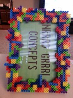 Tetris Picture Frame perler beads by NrrrdGrrrlConcepts