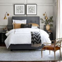 Inspired by this bedroom with classic Greek Key bedding, grays and golds. What's your favorite part? // @liketoknow.it www.liketk.it/1DCDK #liketkit