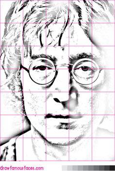 Jak kreslit Johna Lennona pomocí mřížky