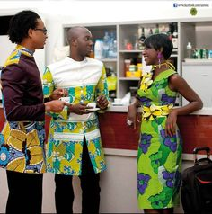 The most classic collection of beautiful traditional and ankara styles and designs for couples. These ankara styles collections are meant for beautiful African ankara couples African Dresses For Women, African Print Fashion, African Women, Fashion Prints, African Prints, African Clothes, African Wear, Ankara Styles For Men, Beautiful Ankara Styles