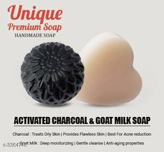 Bathing Soaps Petals Unique Handmade Soap (1 Goat Milk, 1 Charcoal) Unique Handmade Soap (1 Goat Milk 1 Charcoal) Country of Origin: India Sizes Available: Free Size   Catalog Rating: ★4 (8953)  Catalog Name: Free Gift Authentic Handmade Soaps Vol 7 CatalogID_76730 C177-SC2058 Code: 361-3364748-972