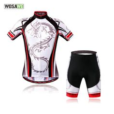 5fc729193 WOSAWE 2017 New men cycling jersey clothing set short sleeve jacket 4D gel  pad shorts summer