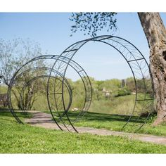 Belham Living Iron Leaf Tunnel Arbor - Arbors at Hayneedle